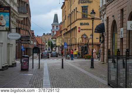 Helsingborg, Sweden - July 26, 2020: A Rainy Summer Sunday In Helsingborg, Sweden. July 2020 Has Bee