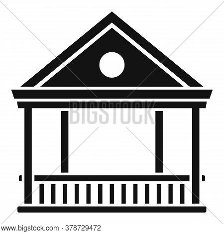 Alcove Gazebo Icon. Simple Illustration Of Alcove Gazebo Vector Icon For Web Design Isolated On Whit