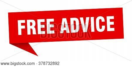 Free Advice Banner. Free Advice Speech Bubble