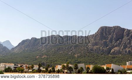 Beautiful Landscape Against The Backdrop Of Majestic Mountains