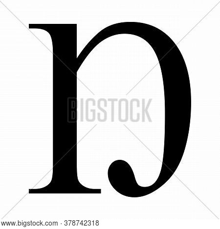 Latin Letter Eng Icon On White Background