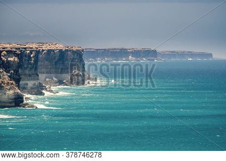 An image of the Great Australian Bight area at south Australia
