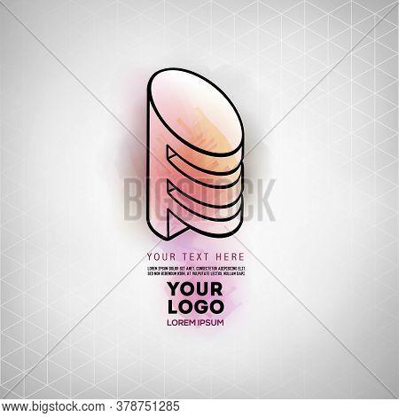 Vector Abstract Geometric Figure Cylinder Spiral Logo Design