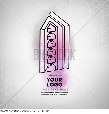 Vector Abstract Geometric Figure Prism Logo Design