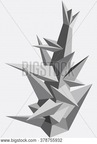 Abstract Geometric Modern Asymmetric Form Design. Vector Illustration