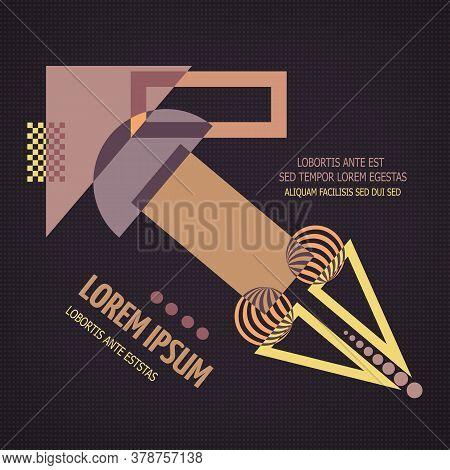 Abstract Geometric Modern Asymmetric Design. Vector Illustration