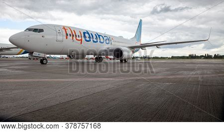 Ukraine, Kyiv - July 8, 2020: Passenger Aircraft Boeing 737-800 Next-generation Flydubai Airlines A6