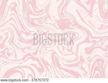 Violet Pink Liquid Vector Marble. Magenta Repeat Acrylic Paint Agate. White Seamless Grunge Graphic