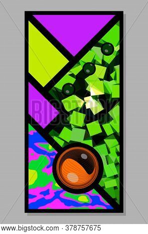 Abstract Vector Fluorescent Bright Colors Banner Design