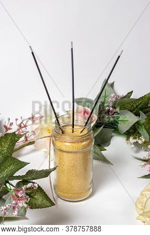 Natural Aroma Sticks. Aromatherapy With The Help Of Incense Sticks, Treatment Of Diseases Of The Ner