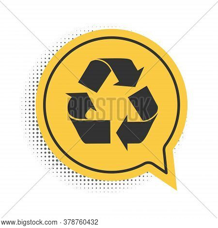 Black Recycle Symbol Icon Isolated On White Background. Circular Arrow Icon. Environment Recyclable