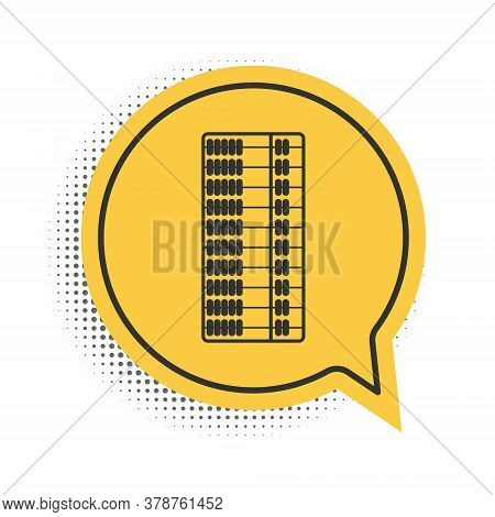 Black Abacus Icon Isolated On White Background. Traditional Counting Frame. Education Sign. Mathemat
