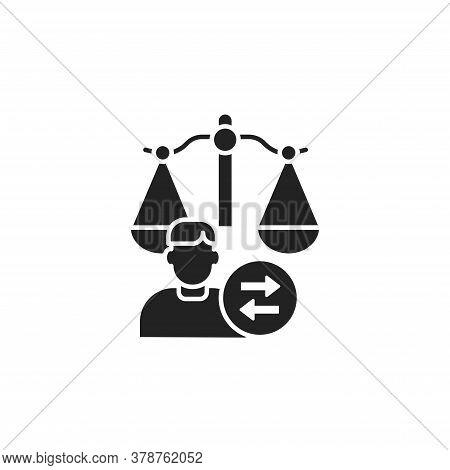 Child Custody Glyph Black Icon. Judiciary Concept. Separation Agreement, Adoption. Family Law. Sign