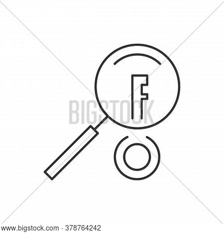 Keywords Searching Linear Icon On White Background