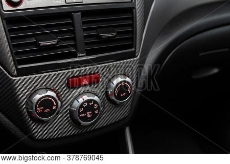 Novosibirsk/ Russia - June 23 2020: Subaru Forester, Close Up Of  Car Panel With The Air Conditionin