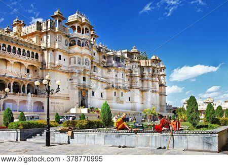 Landmarks of India - Udaipur town and splendid City palace. Rajastan. Feb 2013