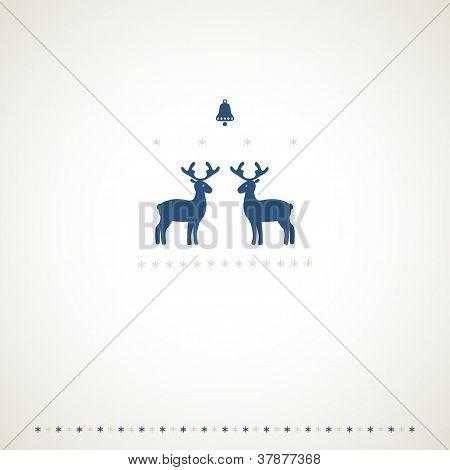 Winter Deers Background Background.eps