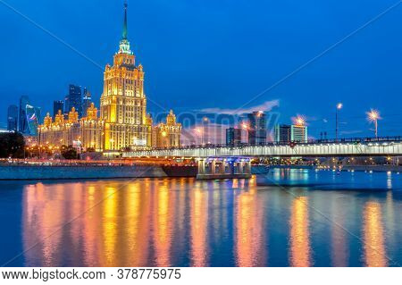 The Radisson Royal Hotel Is A Five-star Luxury Hotel In The Center Of Moscow. Hotel Ukraine  On The