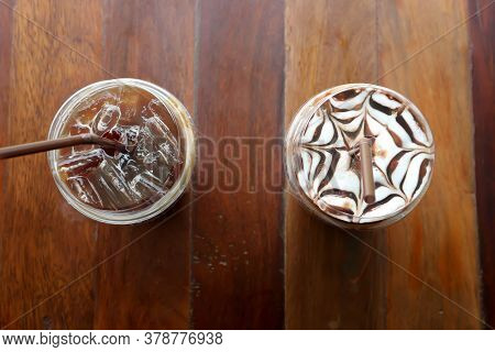 Lemon Tea And Iced Chocolate Or Mocha Coffee