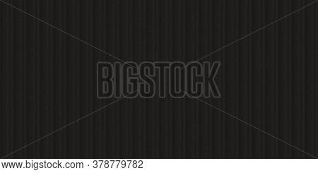 Black Fluted Metal Fencing Backdrop. Corrugated Metal Texture. Crimp Fence Background. Ribbed Metall