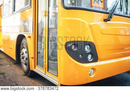 Big Yellow School Bus, Back To School, Delivery Of Children To School.