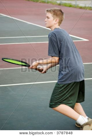 Teen Playing Tennis - Approach