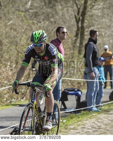 Wallers,france - April 12,2015: The British Cyclist,daniel Mclay Of Team Bretagne-seche Environnemen