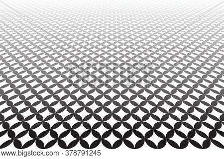 Abstract geometric pattern in diminishing perspective.