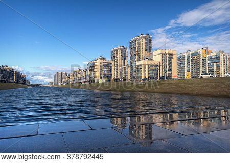 Saint-petersburg,russia, 11-april-2020: Cityscape On A Clear Day. Saint-petersburg.