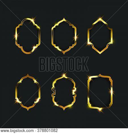 Gold Frame Vector Illustration Design