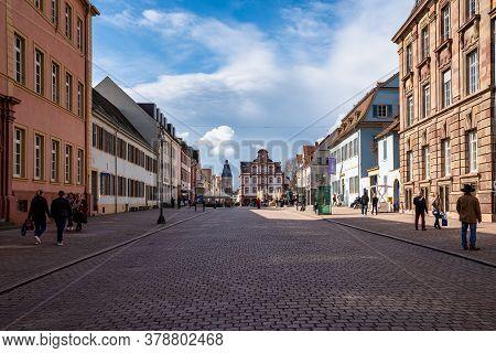 Speyer, Germany - Mar 14, 2020: The Old Gate Altpoertel In Speyer, Germany Is The Medieval City Gate