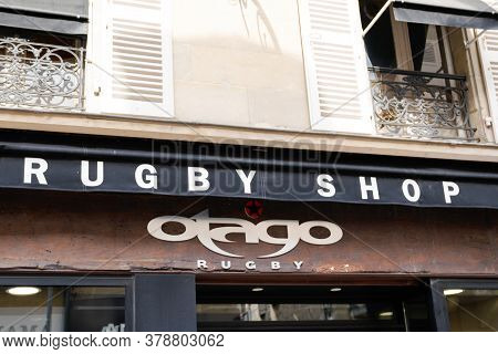 Bordeaux , Aquitaine / France - 07 25 2020 : Otago Rugby Shop Logo And Text Sign Of Rugby Sporty Clo