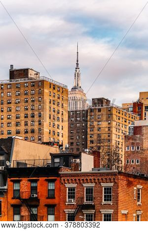 New York City, Usa - February 11, 2020: Empire State Building. American Cultural Icon. Skyscraper's
