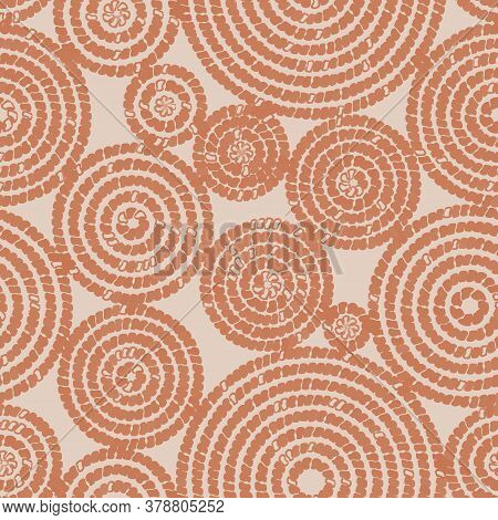 Seamless Pattern With Circular Ornament. Imitation Of Animal Skin. Original Design For Your Products