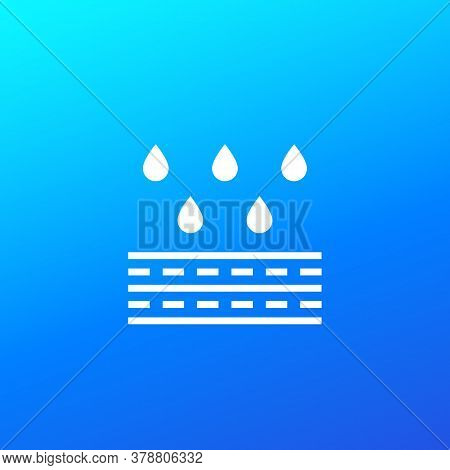 Water Resistant Membrane Icon, Vector, Eps 10 File, Easy To Edit