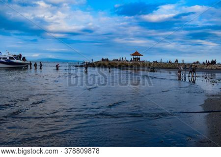 Beautiful Sanur Beach On Bali, Indonesia, A View Of Sanur Beach, Bali, Indonesia