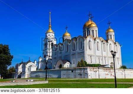 Dormition Cathedral (assumption Cathedral) In Vladimir, Russia. Golden Ring Of Russia