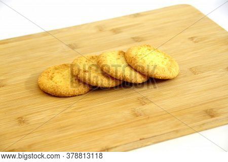 Shortbread Cookies Lying On A Cutting Board