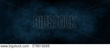 Abstract Dark Blue Color Background With Scratched,  Modern Background Concrete With Rough Texture,
