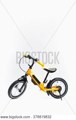 balance bike on white background