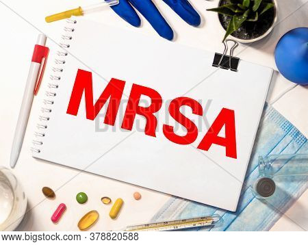 Mrsa Methicillin-resistant Staphylococcus Aureus. Treatment And Prevention Of Disease. Syringe And V