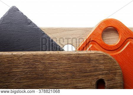 Variety Of Cutting Boards On White Background