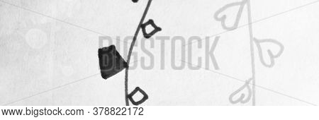 Distress Line Pattern. Stripes Monochrome Grungy Fabric. Background Distress Line Pattern. Geometric