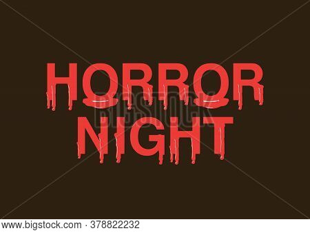 Halloween Horror Night Blood Splashes, Drops And Trail Alphabet. Vector Illustration Isolated On Bla