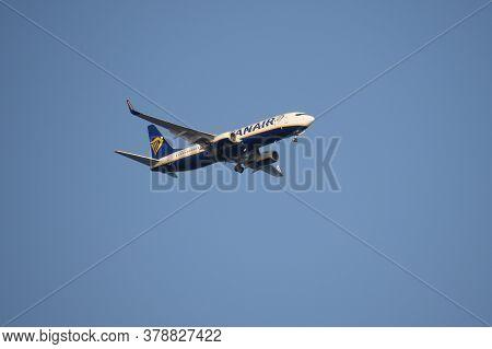 San Pedro Del Pinatar, Spain - September 21, 2018:a Ryanair Boeing 737-800 (flight Number Ei-gjw) Is