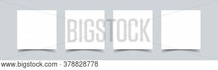 Sticky Note Paper Isolated Realistic Vector Illustration