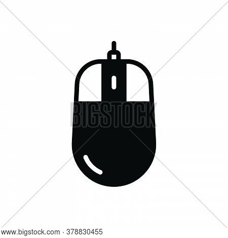 Black Solid Icon For Mouse Computer-mouse Computer Object Device Click Pc Scroll Pointer Cursor Butt