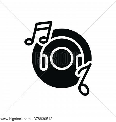 Black Solid Icon For Music Entertainment Djconcert Listen Production Musically Concert Listening Hea