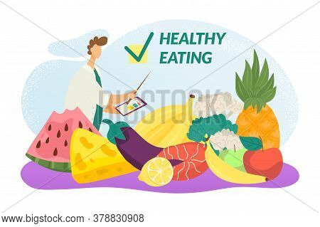 Eco Healthy Eating, Fresh Vegetables And Fruits For Diet And Lifestyle, Organic Food, Natural Produc