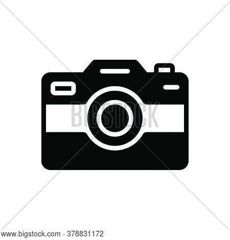 Black Solid Icon For Camera Pictures Image Photography Digital Technology Focus  Application Electro